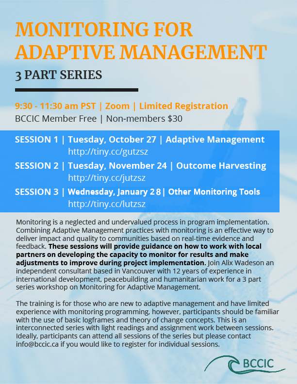 Monitoring for Adaptive Management Event - January 28