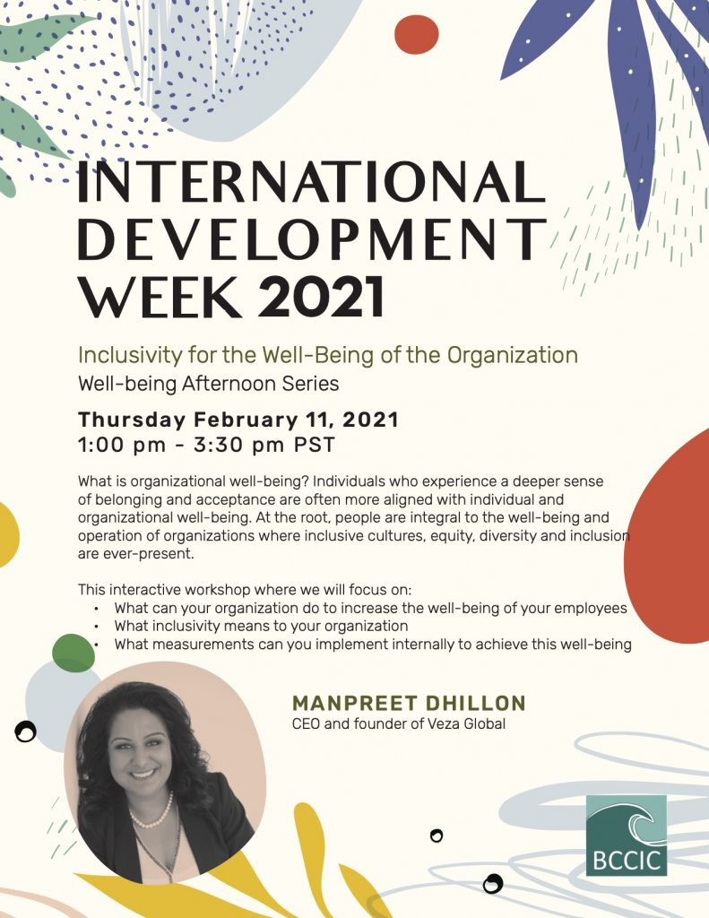 Inclusivity for the Well-Being of the Organization Event Poster